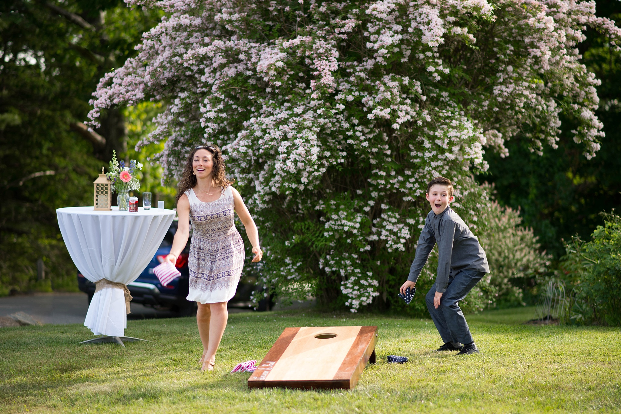 horse shoes at a wedding