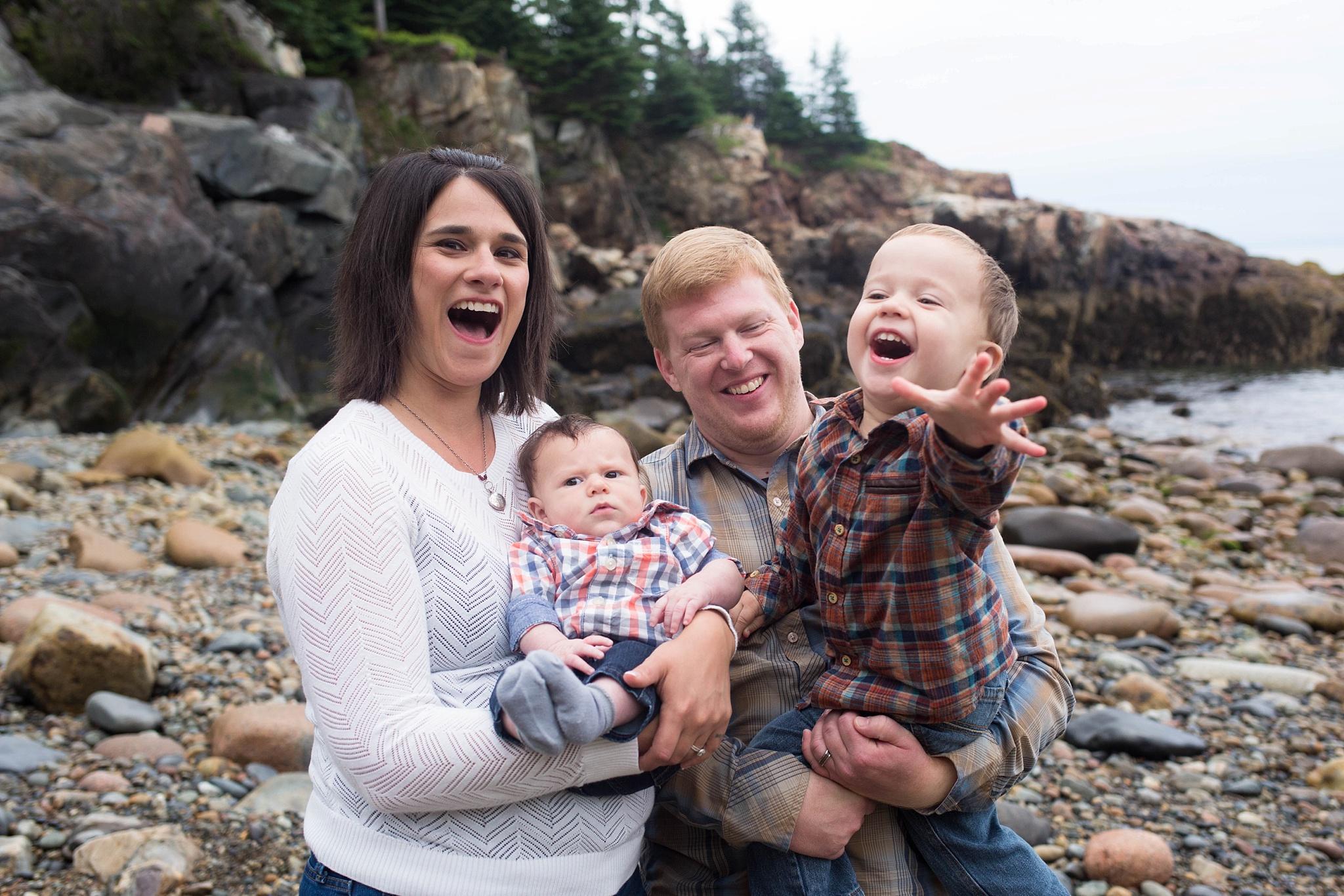Family Photos Acadia National Park