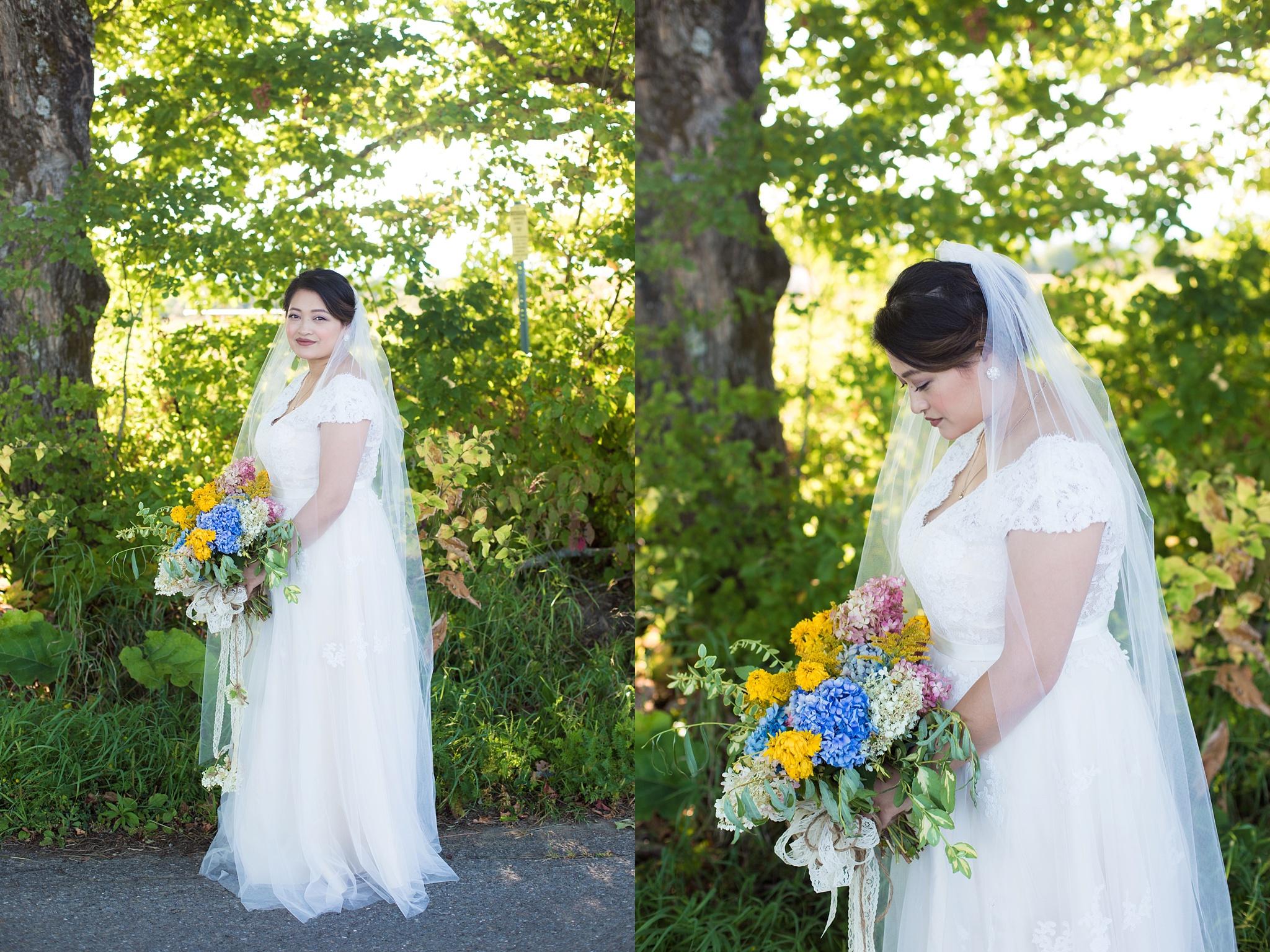 bridal portraits on farm