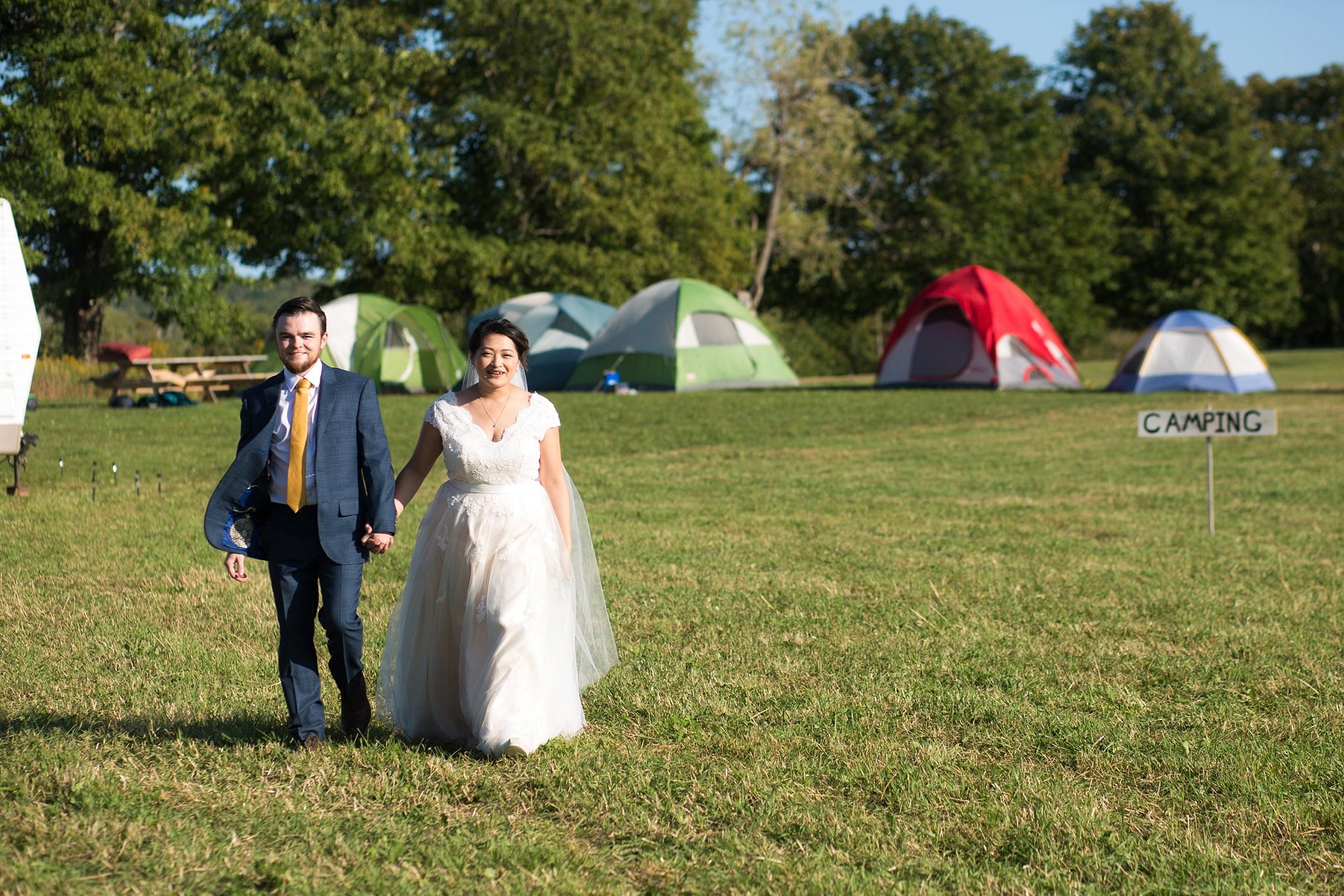 camping at wedding