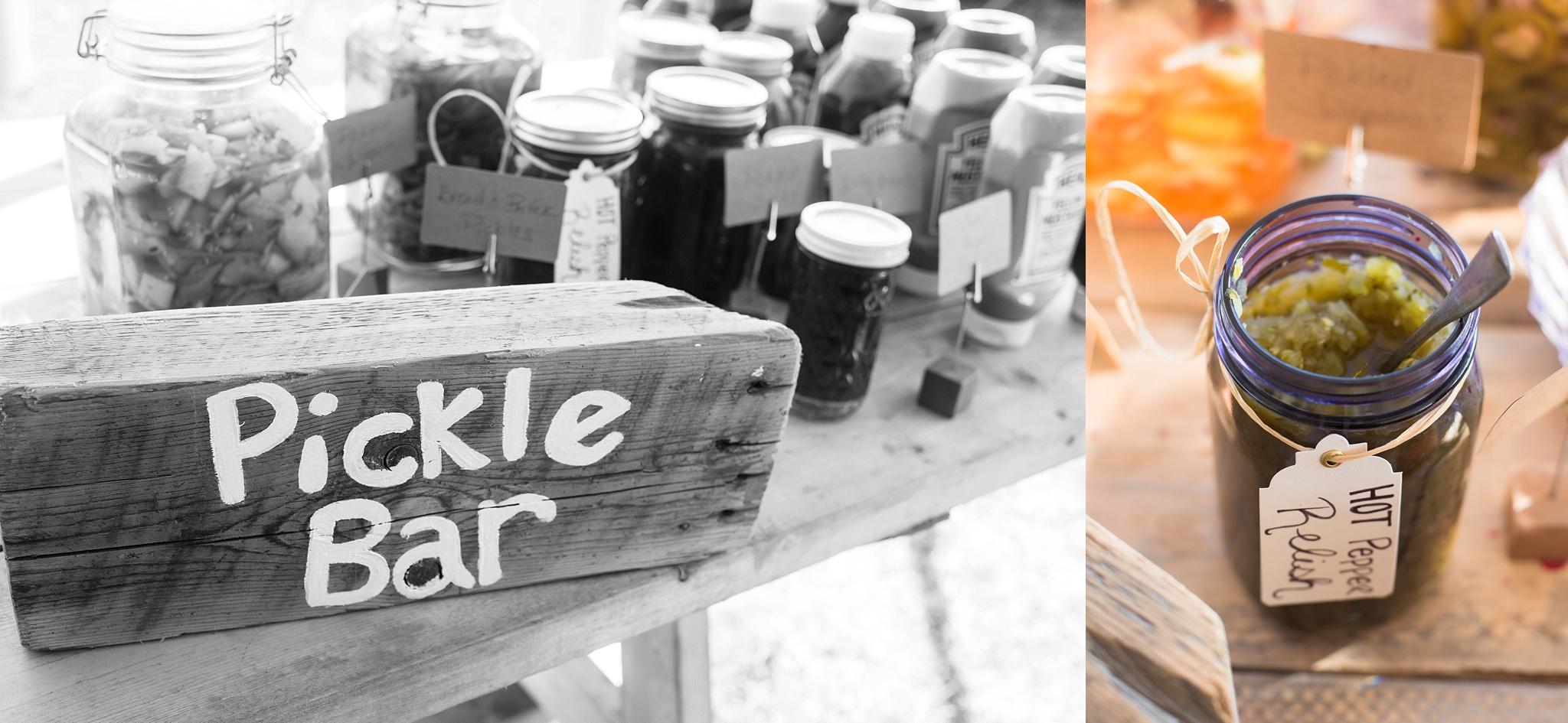 pickle bar at wedding