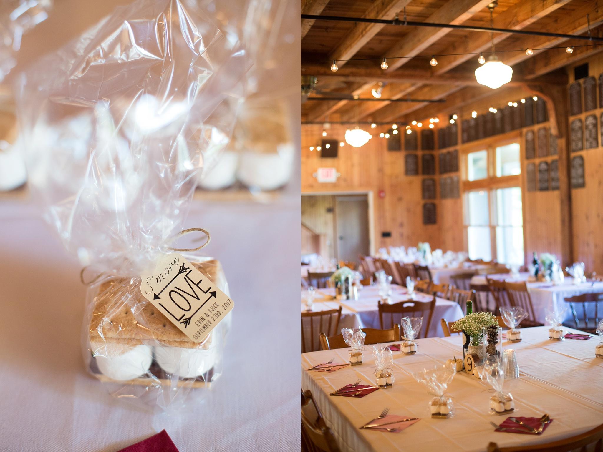 camp wedding details