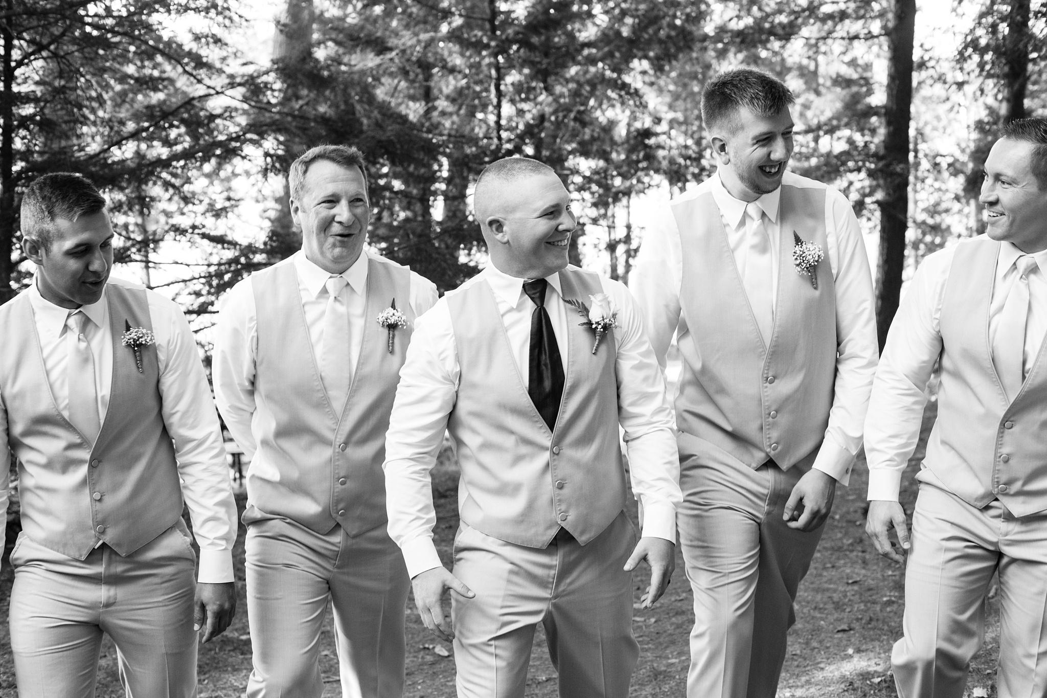 groom with groomsmen maine