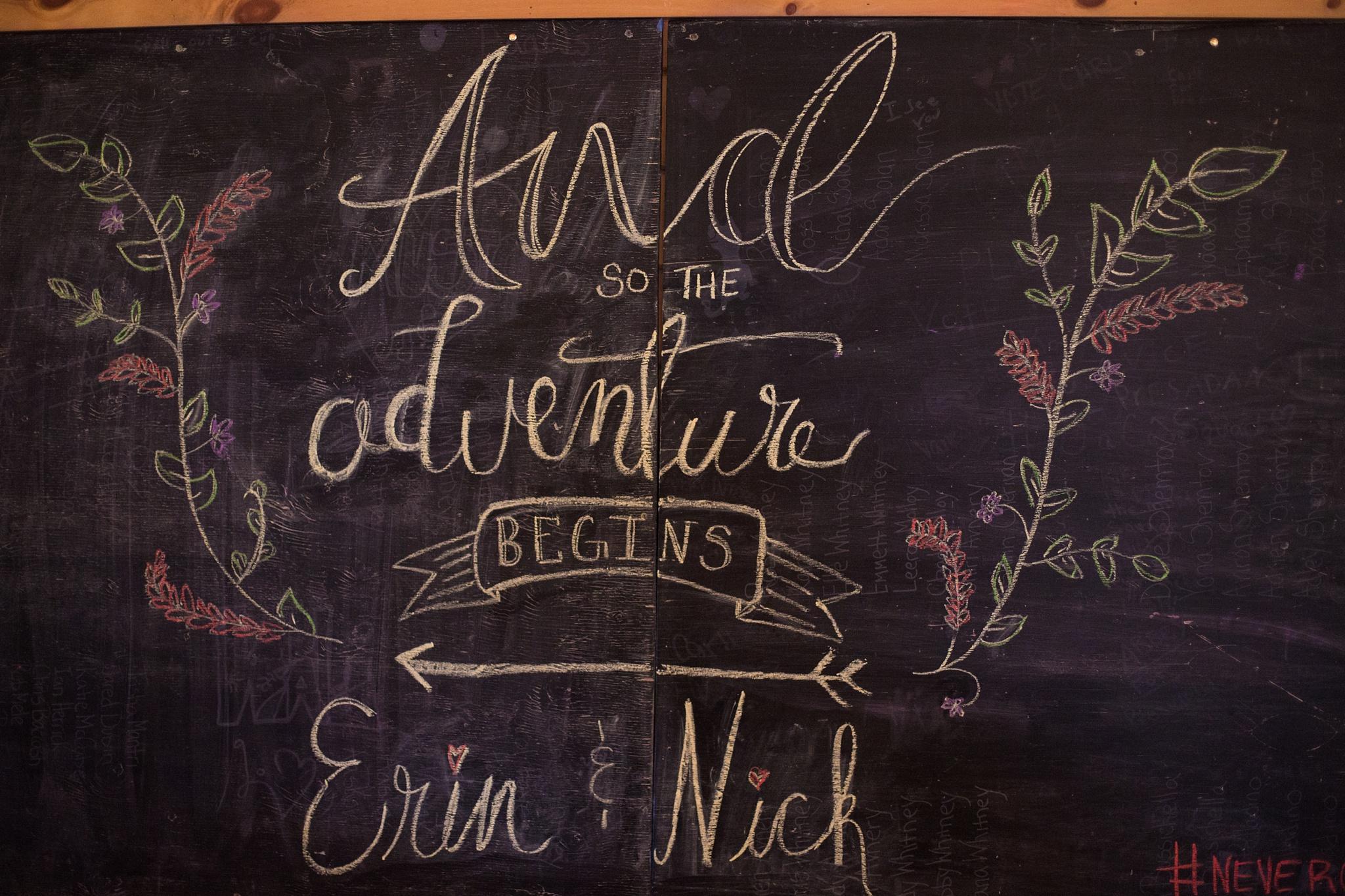 Wedding chalkboard art