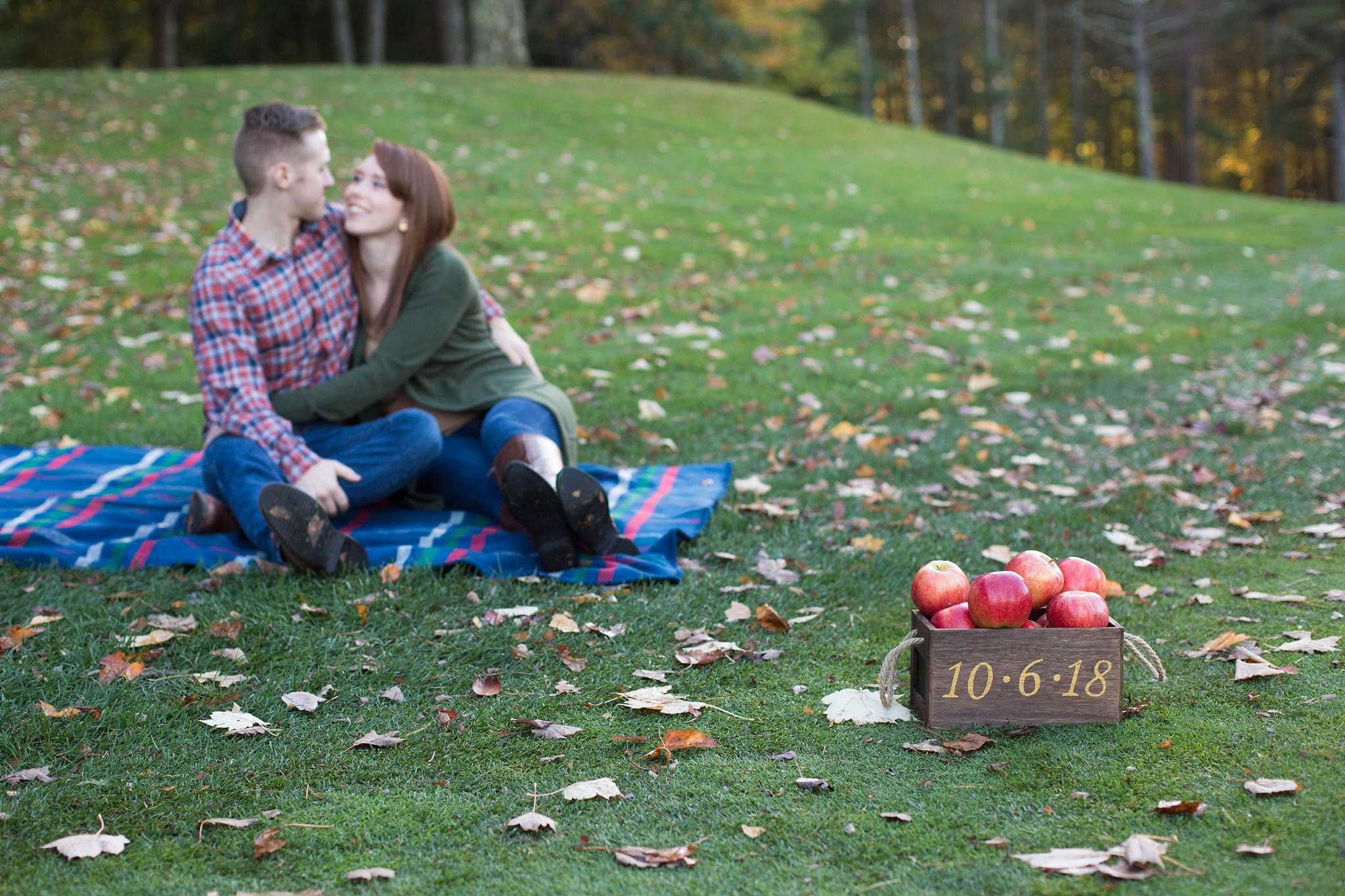 fall engagement picture props