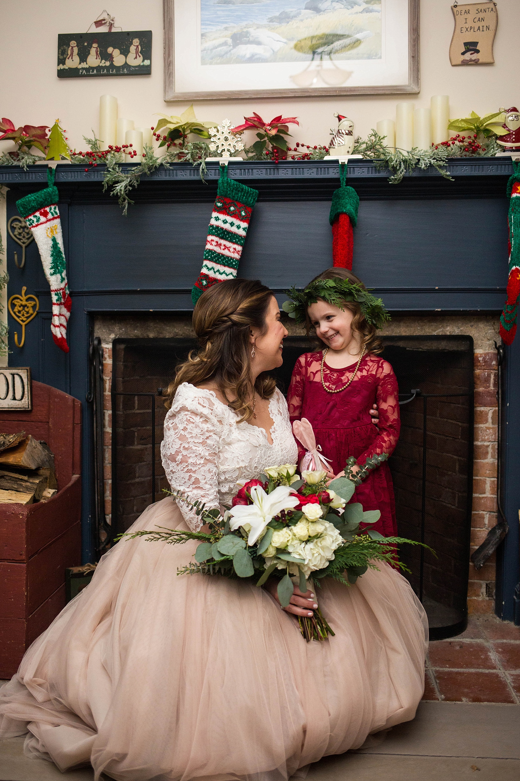maine christmas themed wedding
