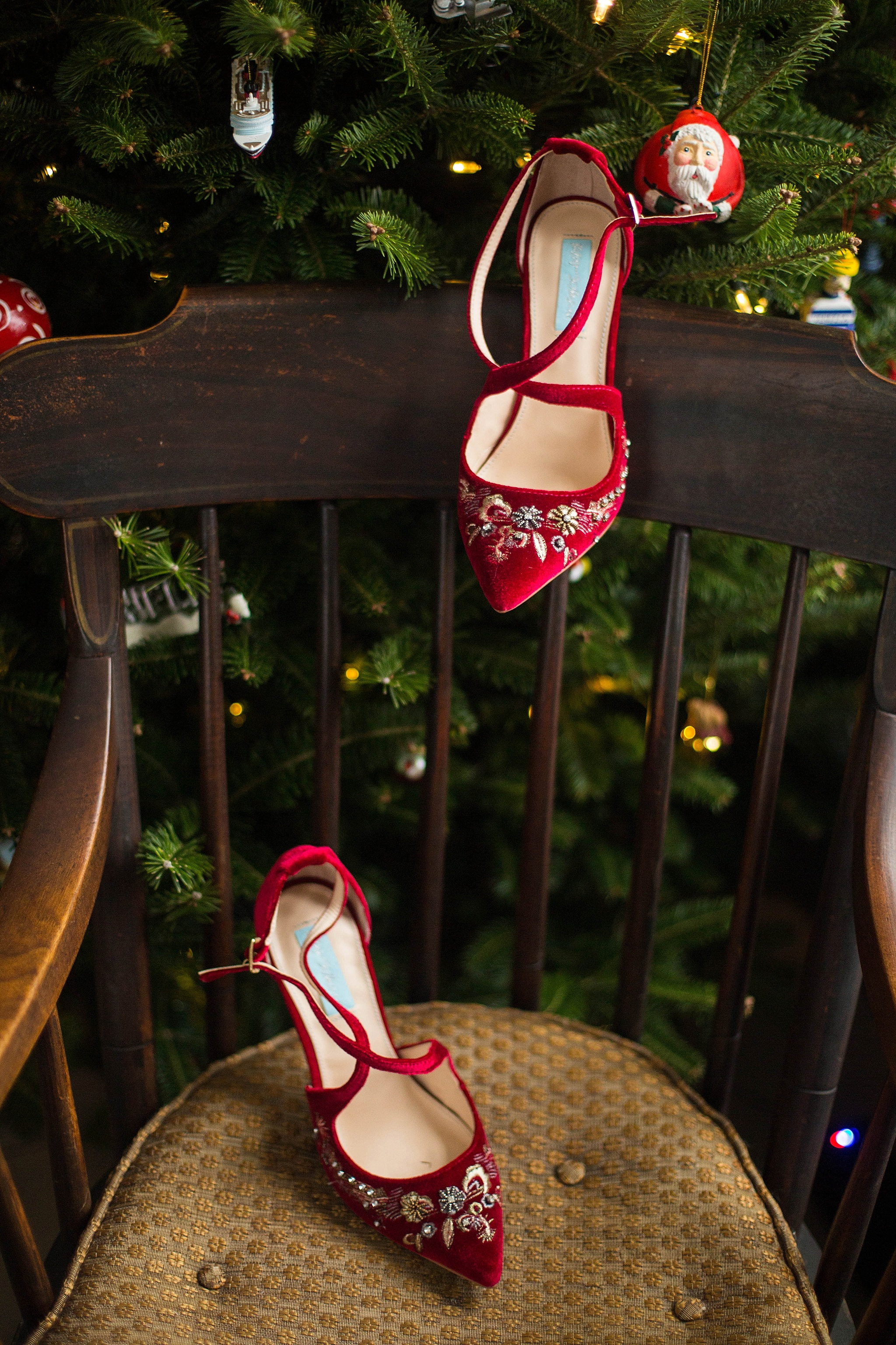 red christmas wedding shoes