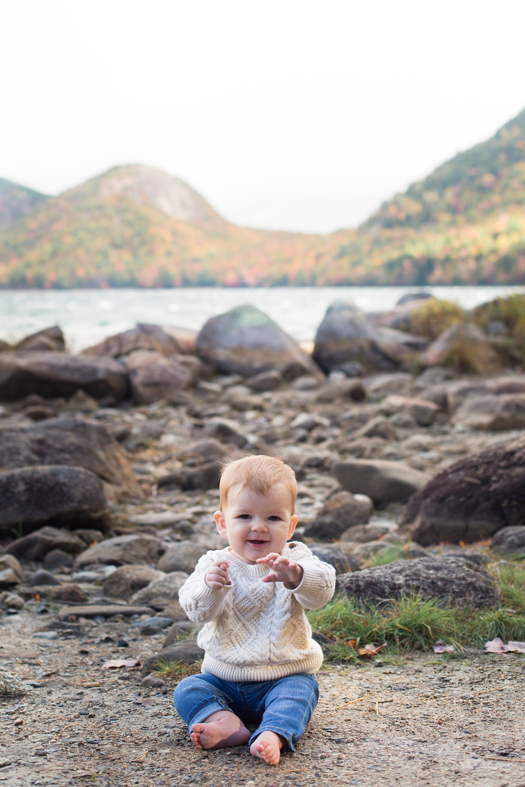 kids photos acadia national park