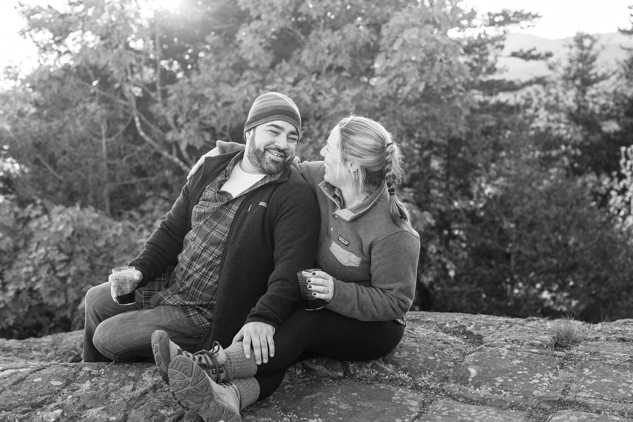 proposal during hike
