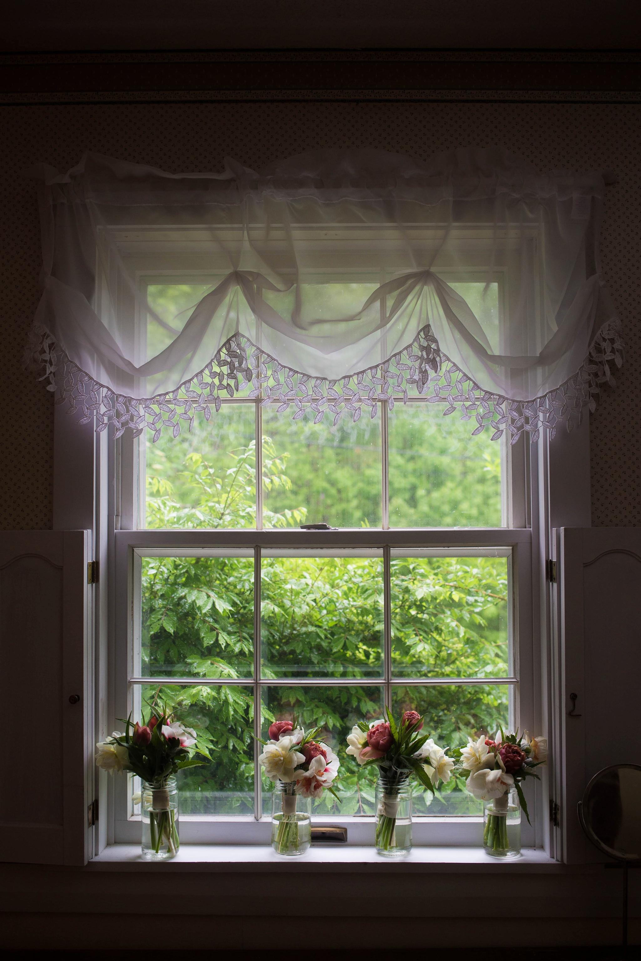 flowers by window