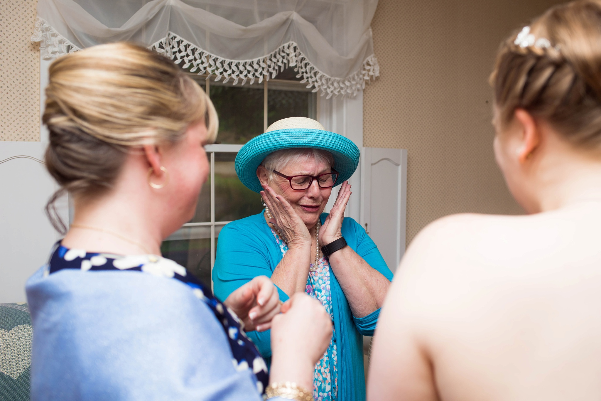 emotional grandmother at wedding