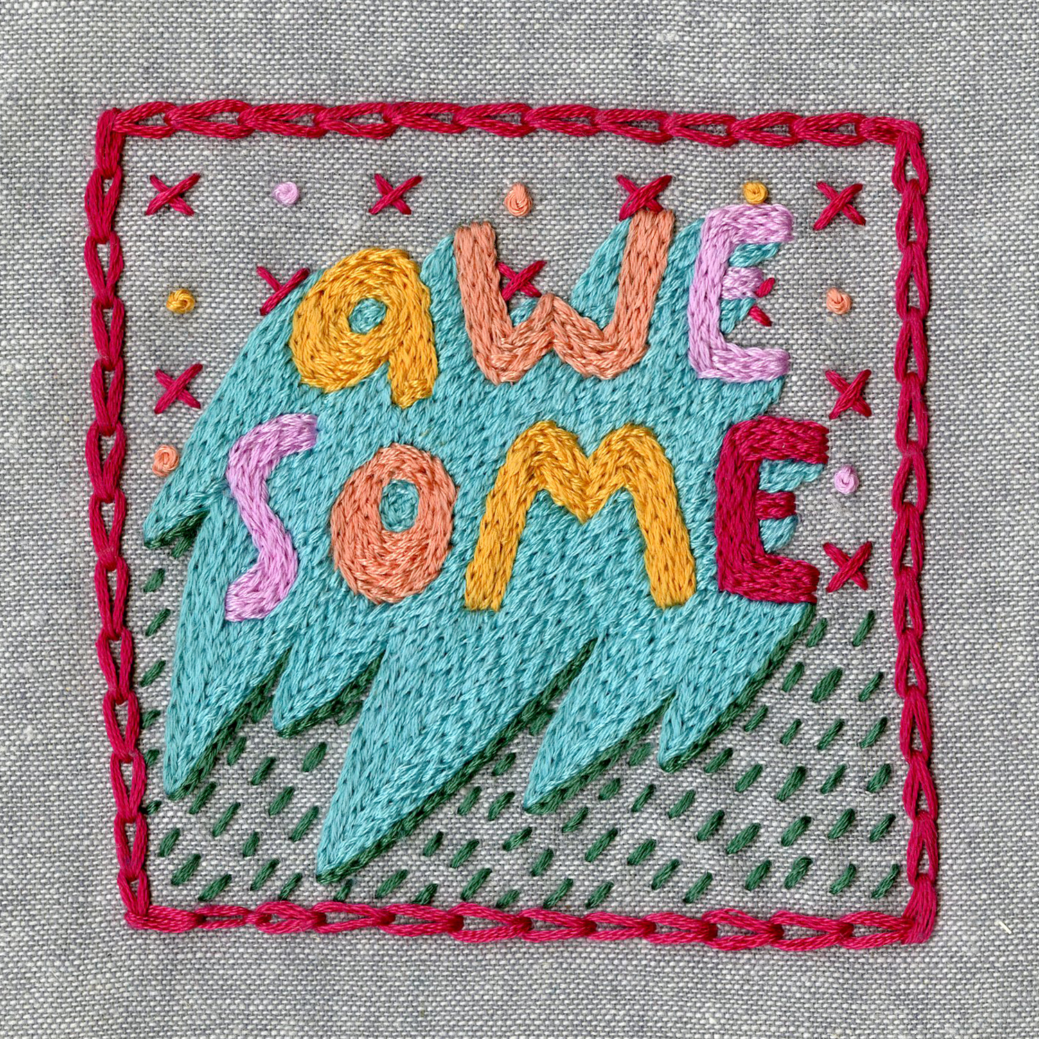 Embroidered Lettering -