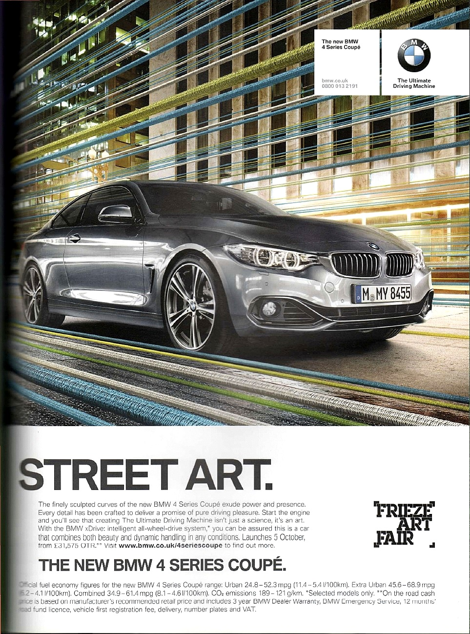 BMW Ad Capaign 2013 - published in  Frieze  magazine, October 2013