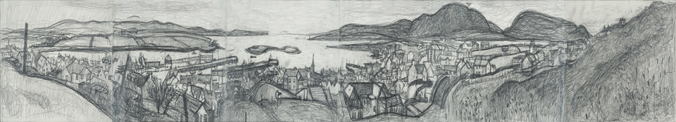 Diana Leslie,  Stromness from Brinkie's Brae  © The Artist