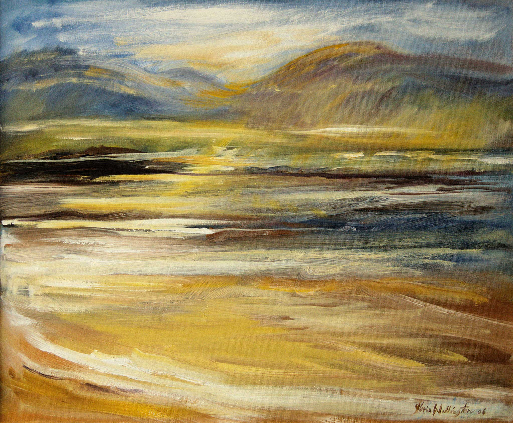 Gloria Wallington, Sand, Sea and Hill, 2016. © the artist