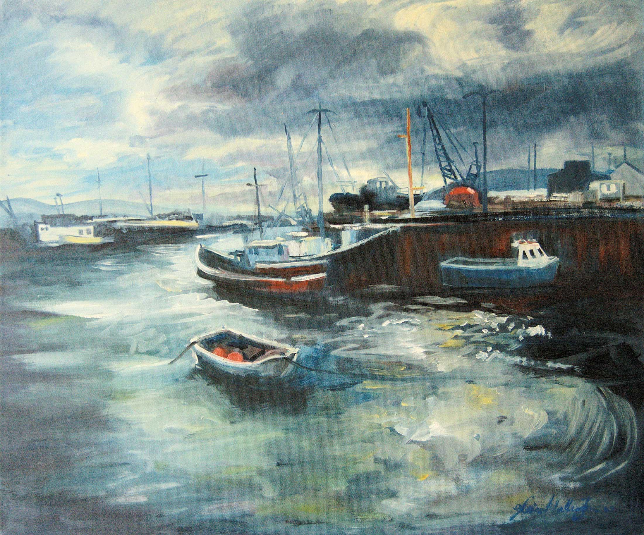 Gloria Wallington, Stromness Harbour, 2016. © the artist