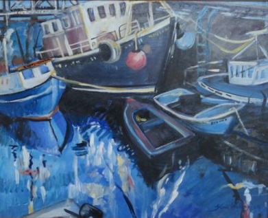 Gloria Wallington, Stromness Harbour, 2017. Private Collection