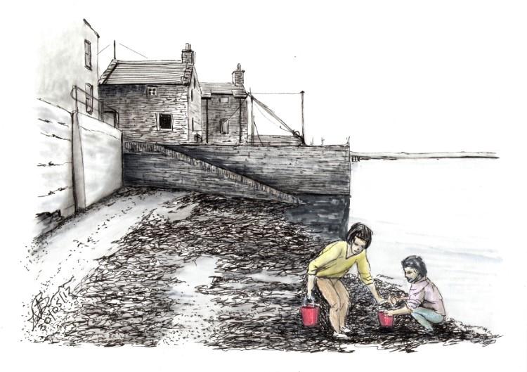 Lorraine Bruce, Bairns on Bessies Beach. © the artist