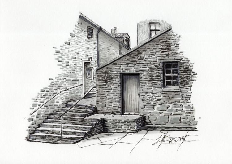 Lorraine Bruce, The Dundas Street Steps. © the artist