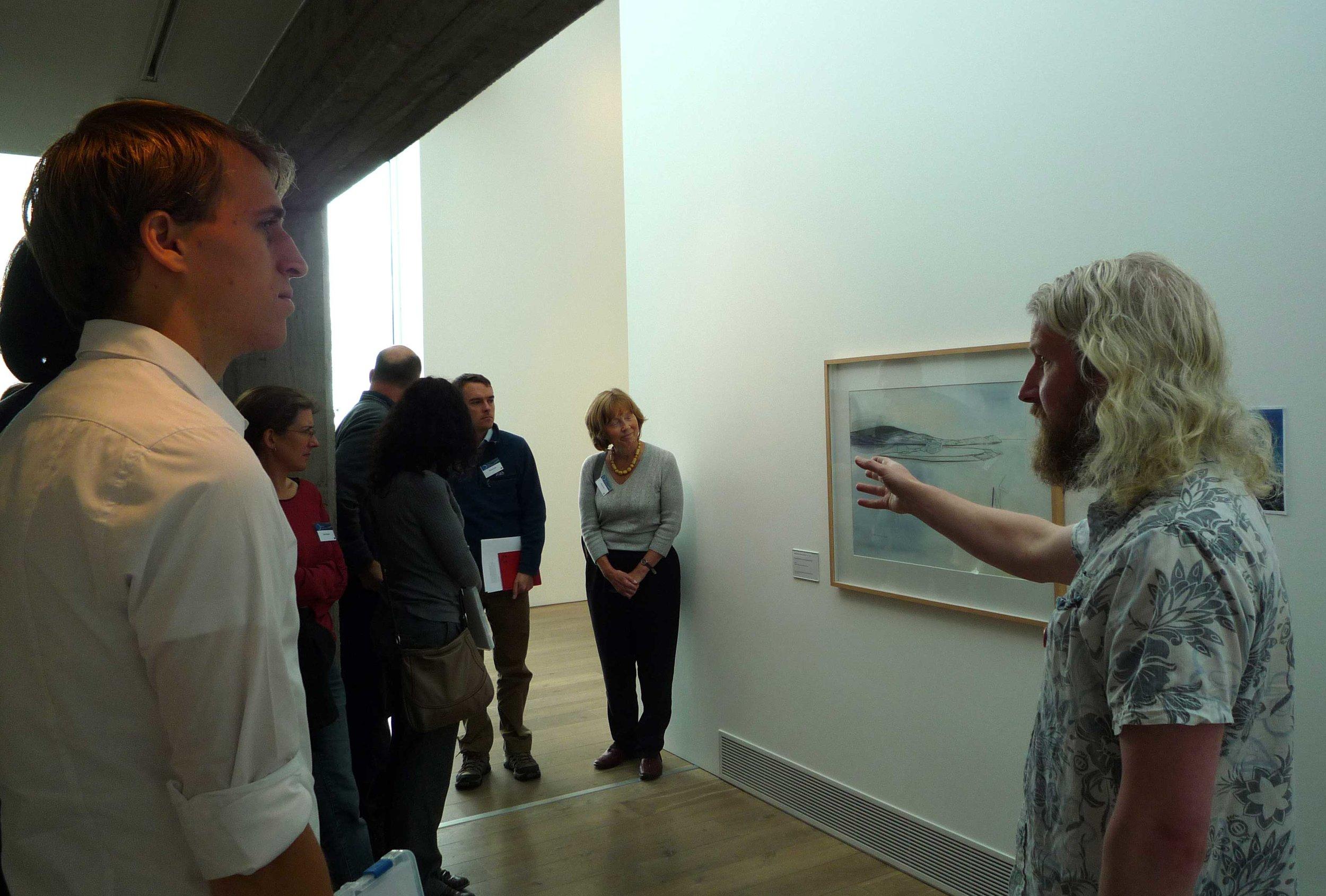 Study group tour of Pier Arts Centre Collection