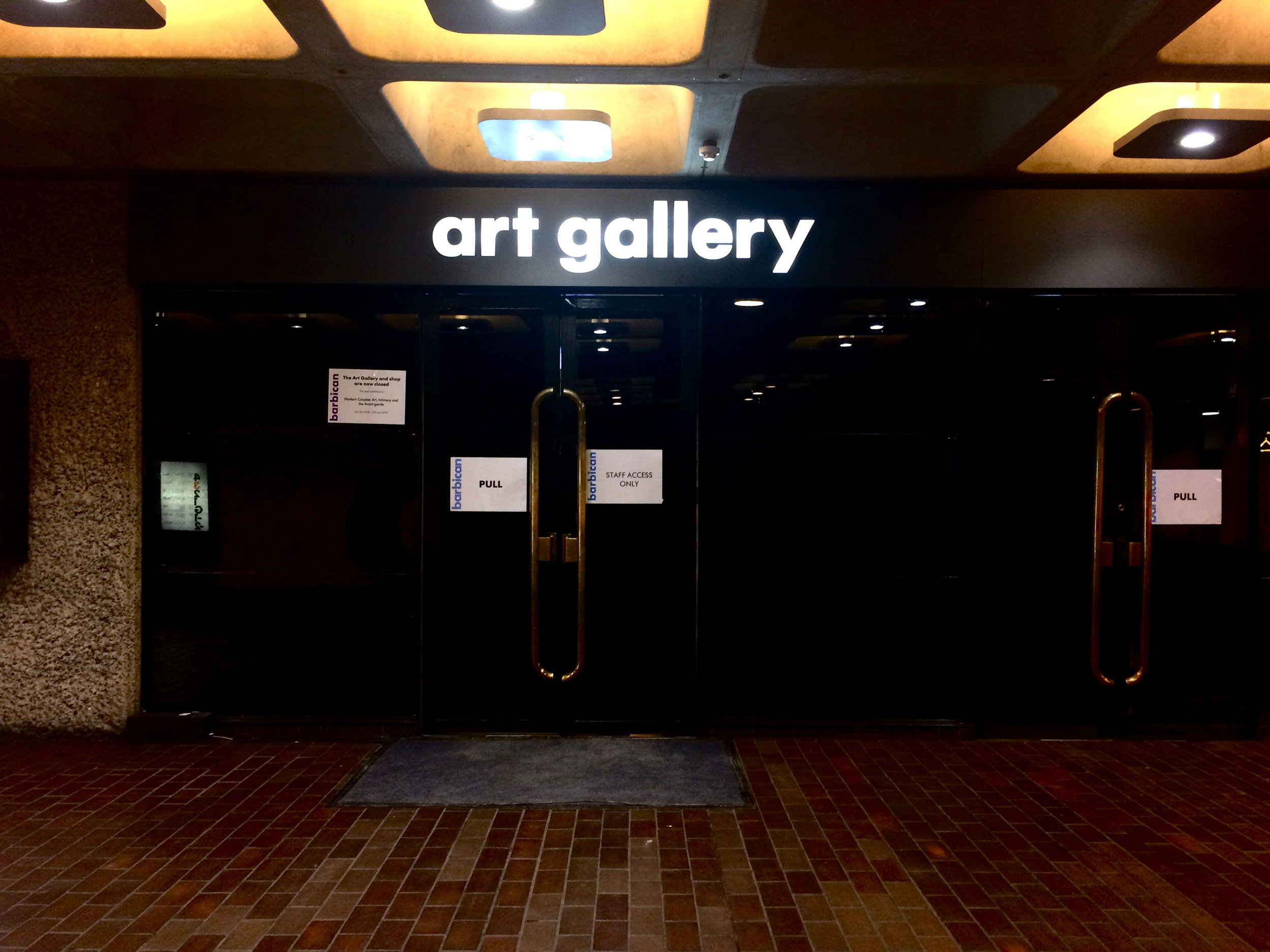 Barbican Centre art gallery