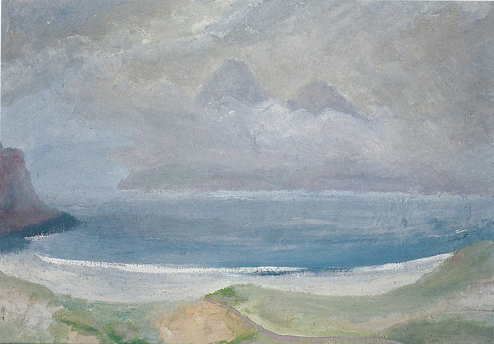Winifred Nicholson Sounds of Rhum, from Bay of Laig, Isle of Eigg (The Singing Sands) early 1950's  © The Estate of the artist  On loan from the Estate of Jake Nicholson