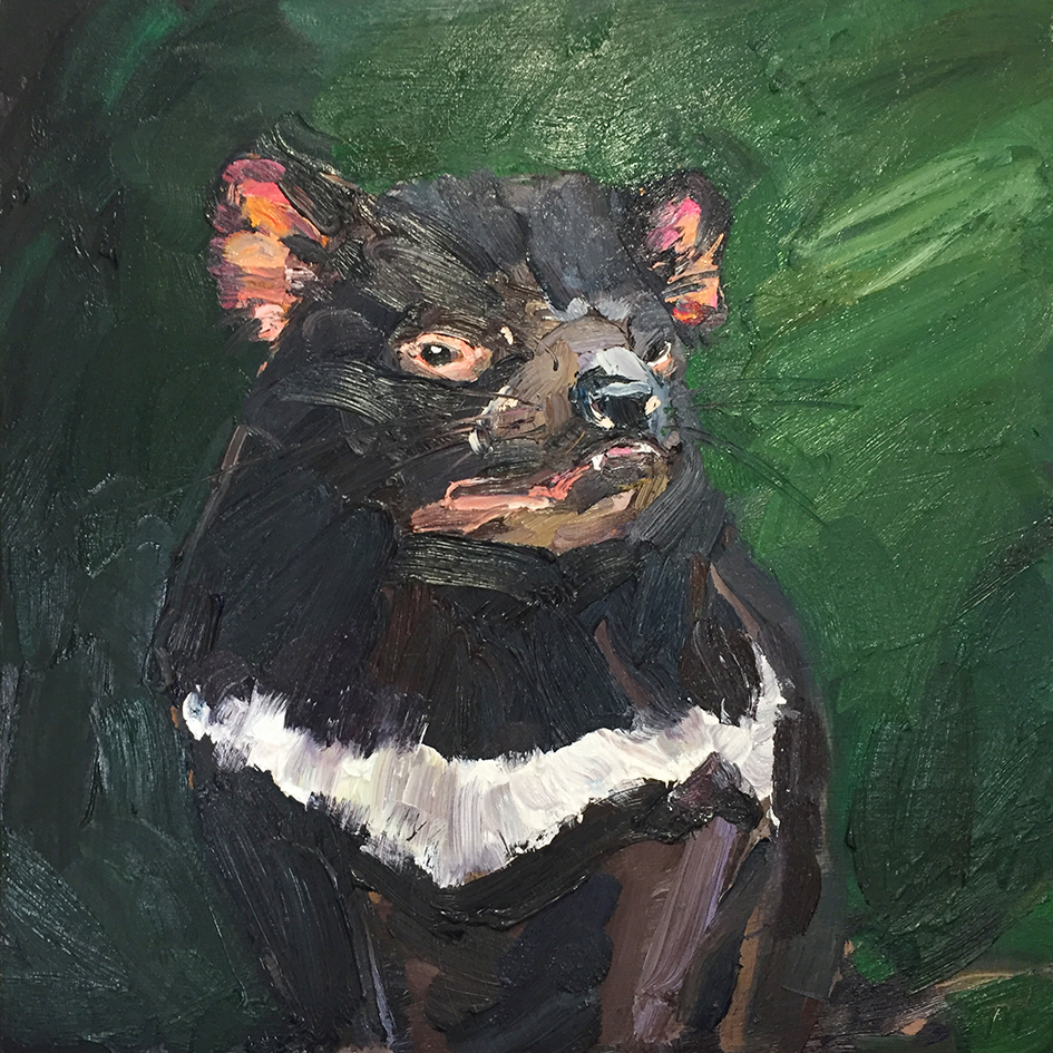Rowdy Harricks as Sarcophilus Harrisii (Tasmanian Devil).