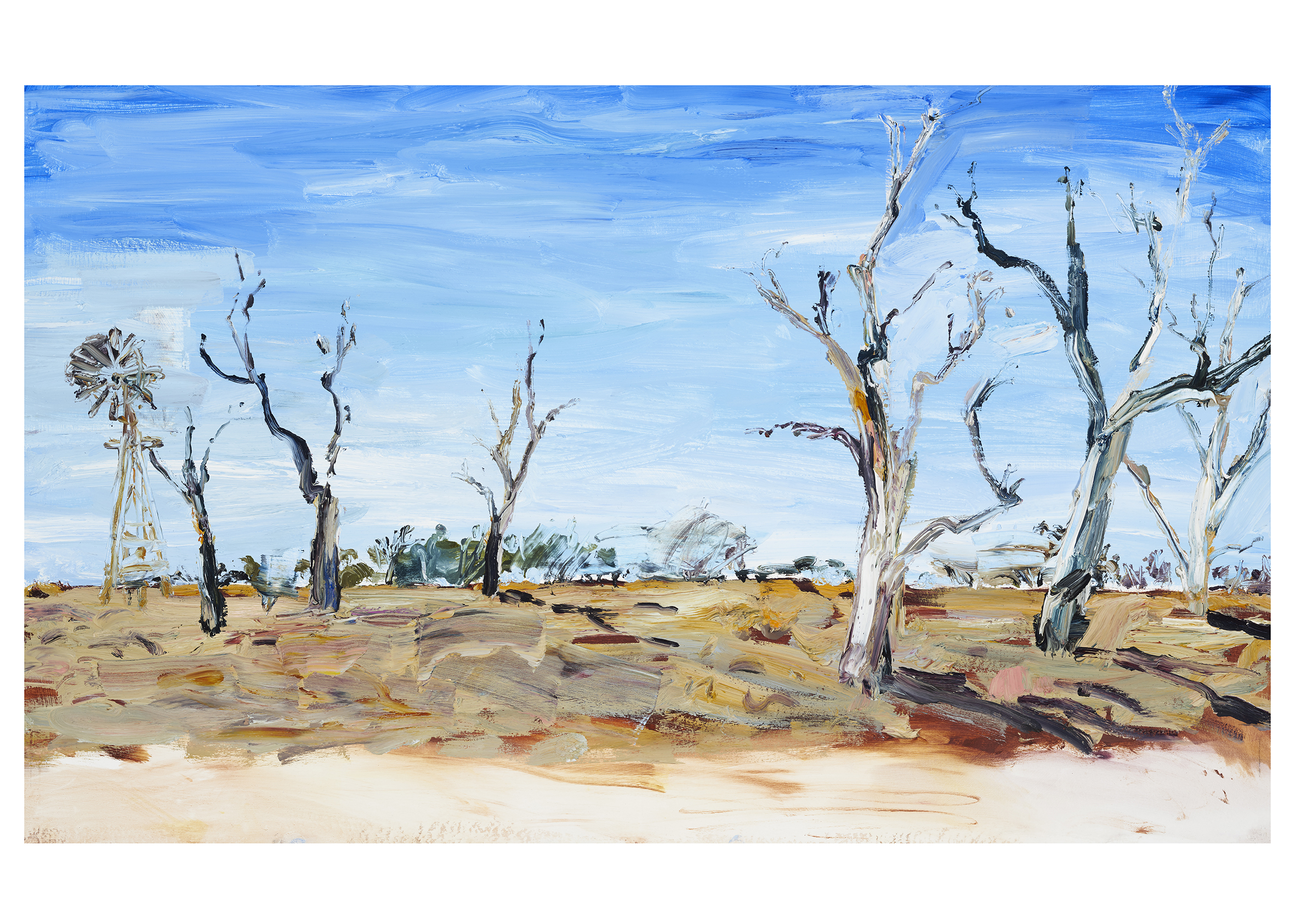 IIllustration from Mallee Sky picture book by Jodi Toering/Tannya Harricks. Published by Walker Books/Black Dog books.    Fine art print #2 Landscape 40 x 56 cm   Limited edition of 49/50 available  AU $290 plus postage   to order please email me at harricks@iinet.net.au