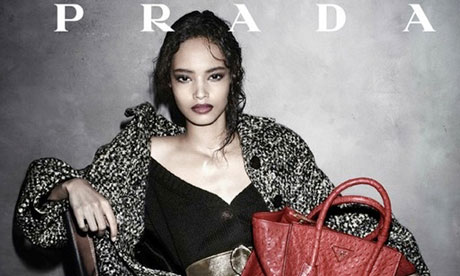 Prada' cast Malika Firth as the first Black Model for its campaign in 10 years.