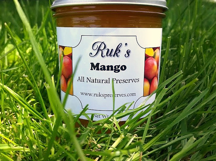 8 oz. Jar                   (May - September)    Try this flavor poured over vanilla ice cream for a new favorite summertime dessert.    Ingredients: Mangoes, Sugar, Pectin, Organic Lemon Juice