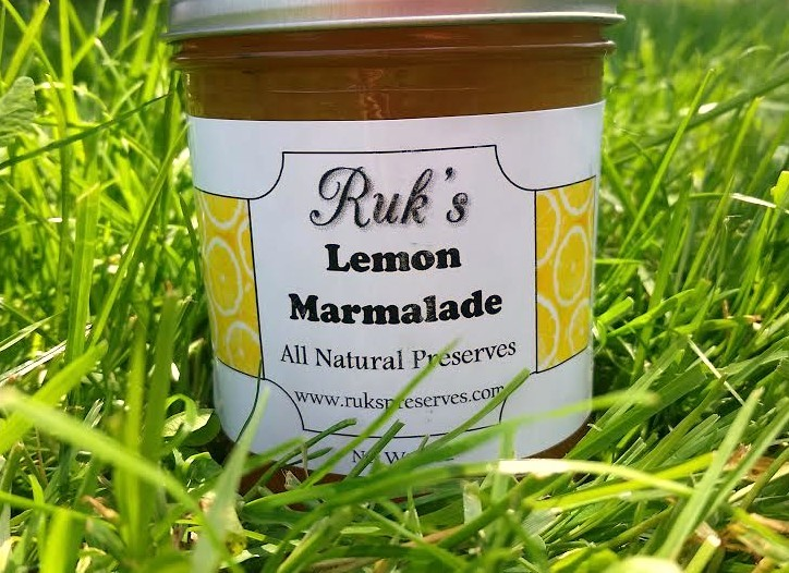8 oz. Jar                      (January-December)    Lemon Marmalade is pulpy and sweet with just a tiny bit of that wonderful tartness! Spread this over an English muffin and leave breakfast refreshed and ready for the day!    Ingredients: Lemons, Sugar, Pectin, Lemon Zest