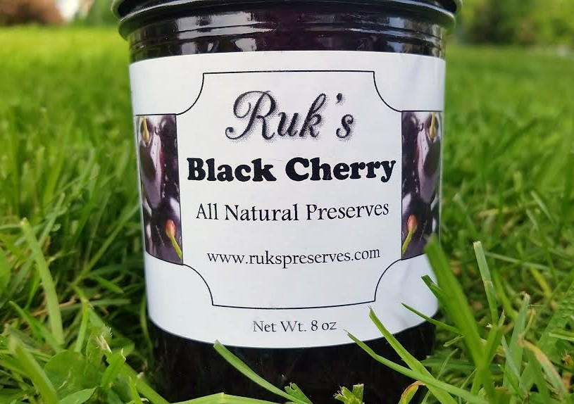 8 oz. Jar                            (June - August)    Black Cherry is made with sweet black cherries and you'll find pieces of the fruit throughout the entire jar.    Ingredients: Black Cherries, Sugar, Pectin, Organic Lemon Juice