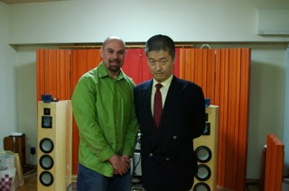 In the home of Hiroya Murai after some great music played through his well regarded hi-fi system.