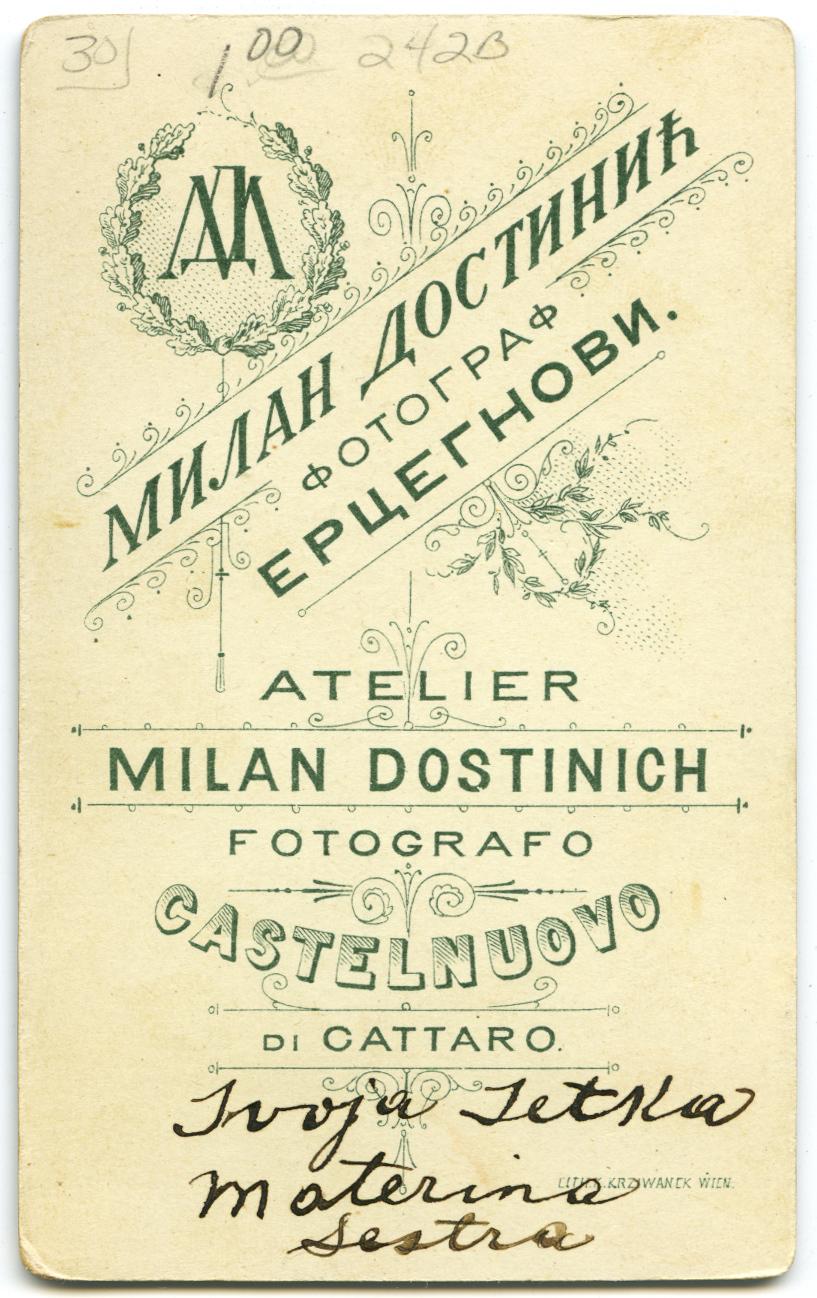 Russian cartes de visite, circa 1875