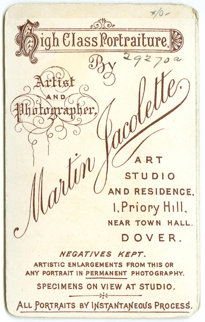 American cartes de visite, circa 1875