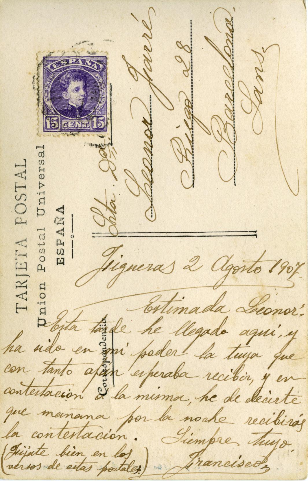 Spanish postcard 1907
