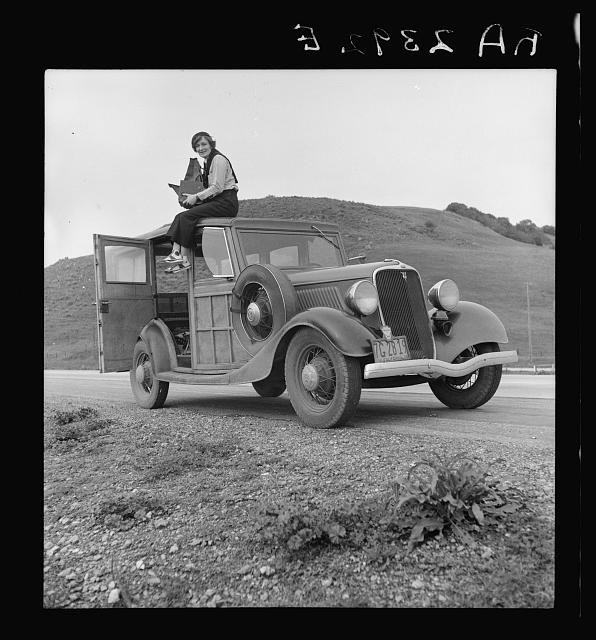 Dorothea Lange, 1936. By Rondal Partridge. Courtesy of Library of Congress, Prints and Photographs Division