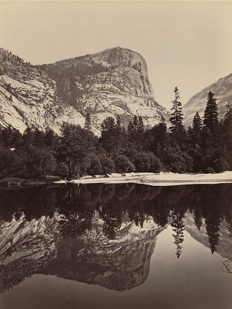 Carleton Watkins. Mirror Lake and Mount Watkins, circa 1865
