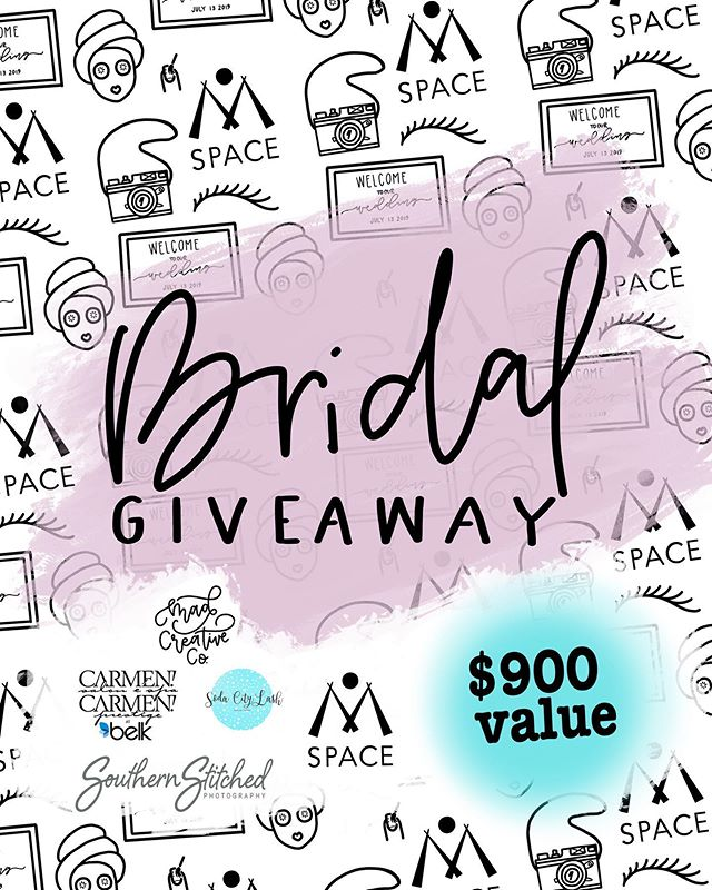 GIVEAWAY ✨|| Planning a wedding? Let us help! 💁🏻‍♀️ We are partnering with some amazing local vendors to celebrate lovely, local brides with an AMAZING GIVEAWAY ➡️ over $900 in products & services! Here are the deets👇🏻 . . • $250 towards bridal shower/wedding rehearsal event space | @mspacevista • Collagen infused facial or a Customized Full Set of Individual Lash Extensions | @sodacitylashes • Customized mirror welcome sign perfect for wedding &/or reception | @madcreative.co • Choice of 30 minute Mini Session or $150 off Bridal session | @southern_stitched • Full head foil by @elizhemphill | @carmencarmensalon_columbiana • Pedicure with Jodi Collins | @carmencarmensalon_columbiana • Full Face Makeup Application with Bryson Pitts | @carmencarmensalon_columbiana TO ENTER || 1. FOLLOW @sodacitylashes @madcreative.co  @southern_stitched @carmencarmensalon_columbiana @mspacevista  2. LIKE this post 3. TAG a lady who needs this in their life!  Want extra entries? 1. TAG more than one friend for multiple entries (must comment individually) 2. SHARE this post on your story & tag us for an additional entry (Limit 1 per day) . . . Contest ends June 22 @ Midnight. Winner announced June 23.
