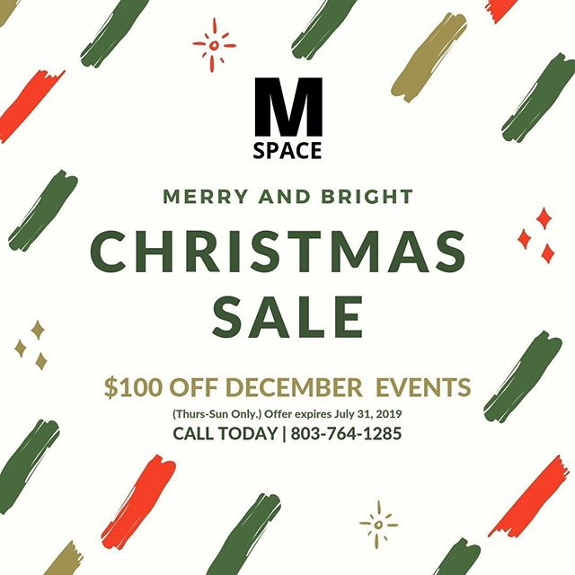 Yes, you read it right! $100 off 🎉 let's get chatting details and book your holiday event today!! Call 803 764 1285