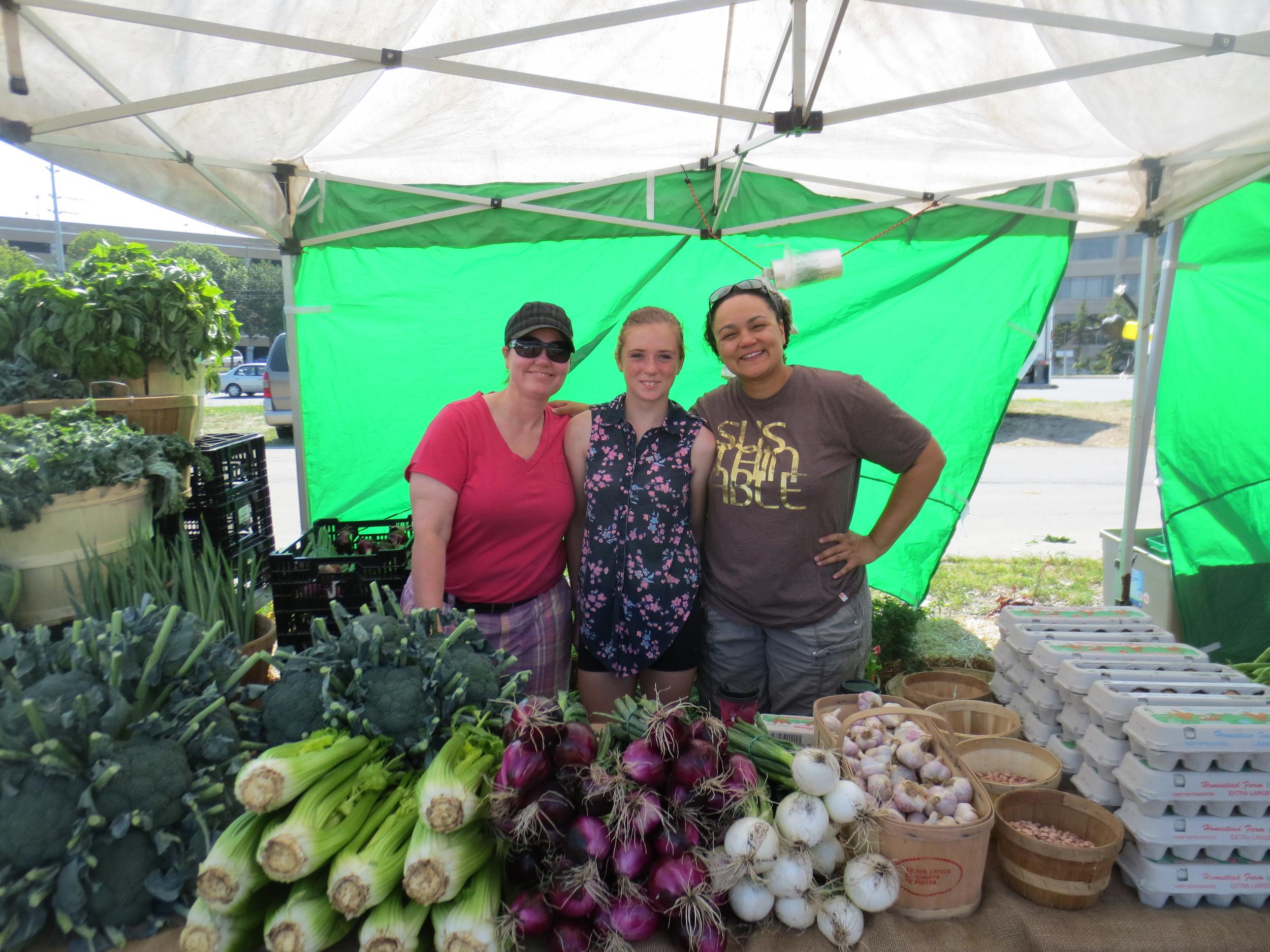 market volunteers