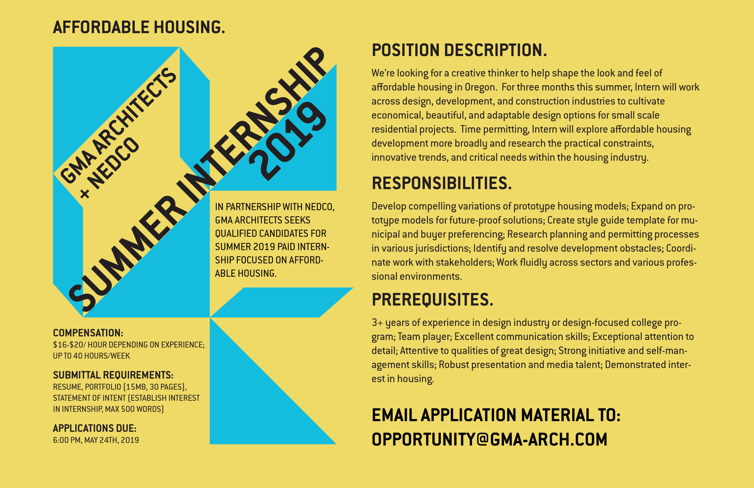 GMA Architects Internship