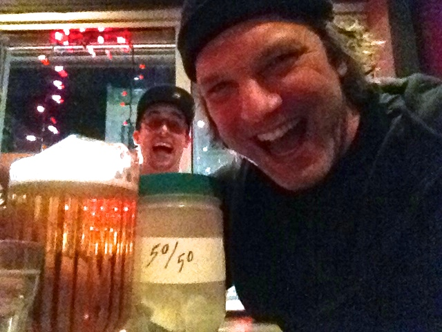 «Selfie» with Martin Jacques Aubert at La Cabane just after winning the dough...Again !!!              (photo by Larry)