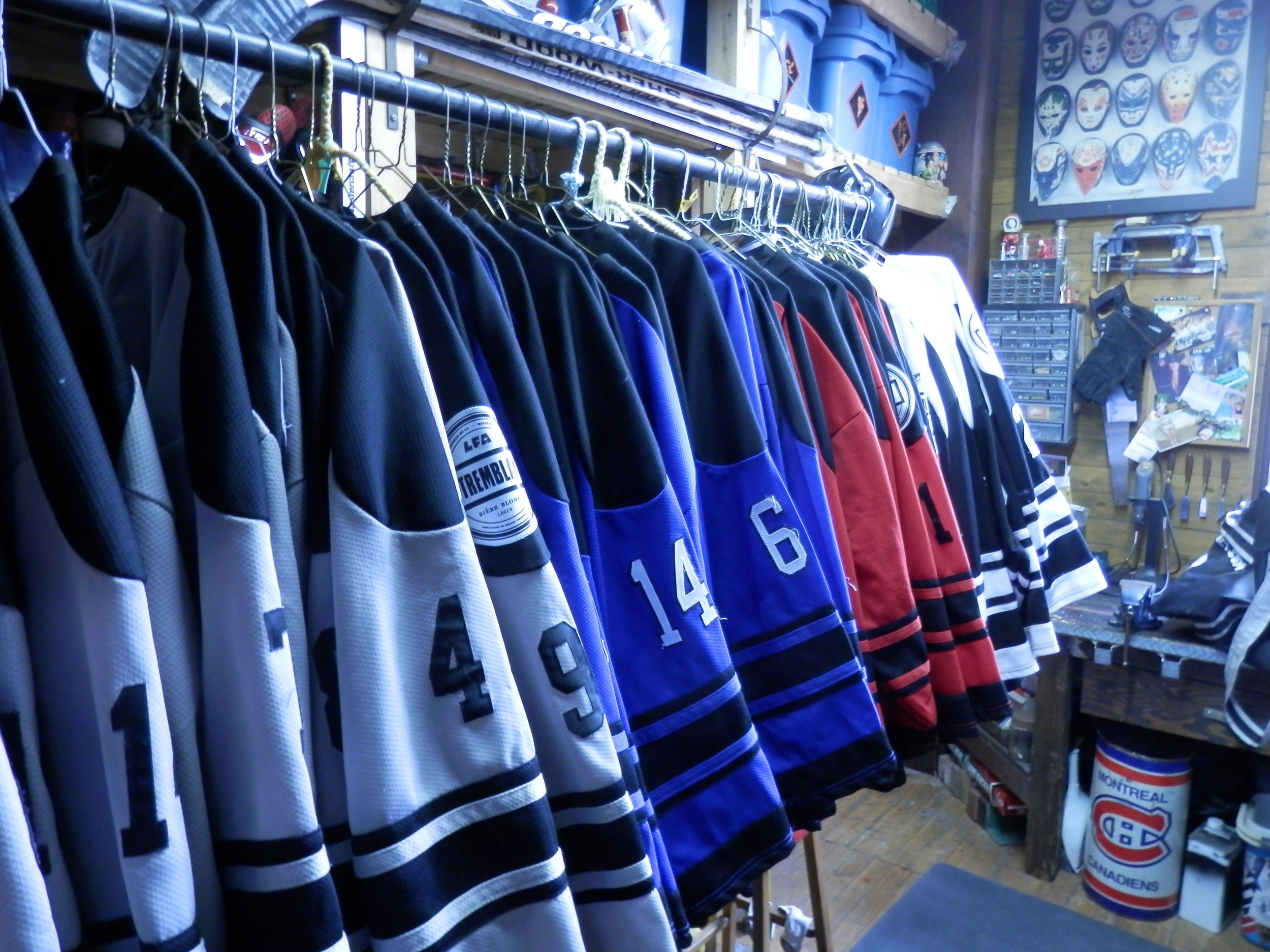 All sixty jersey's minus one, cleaned and ready to go for the 2014-15 season