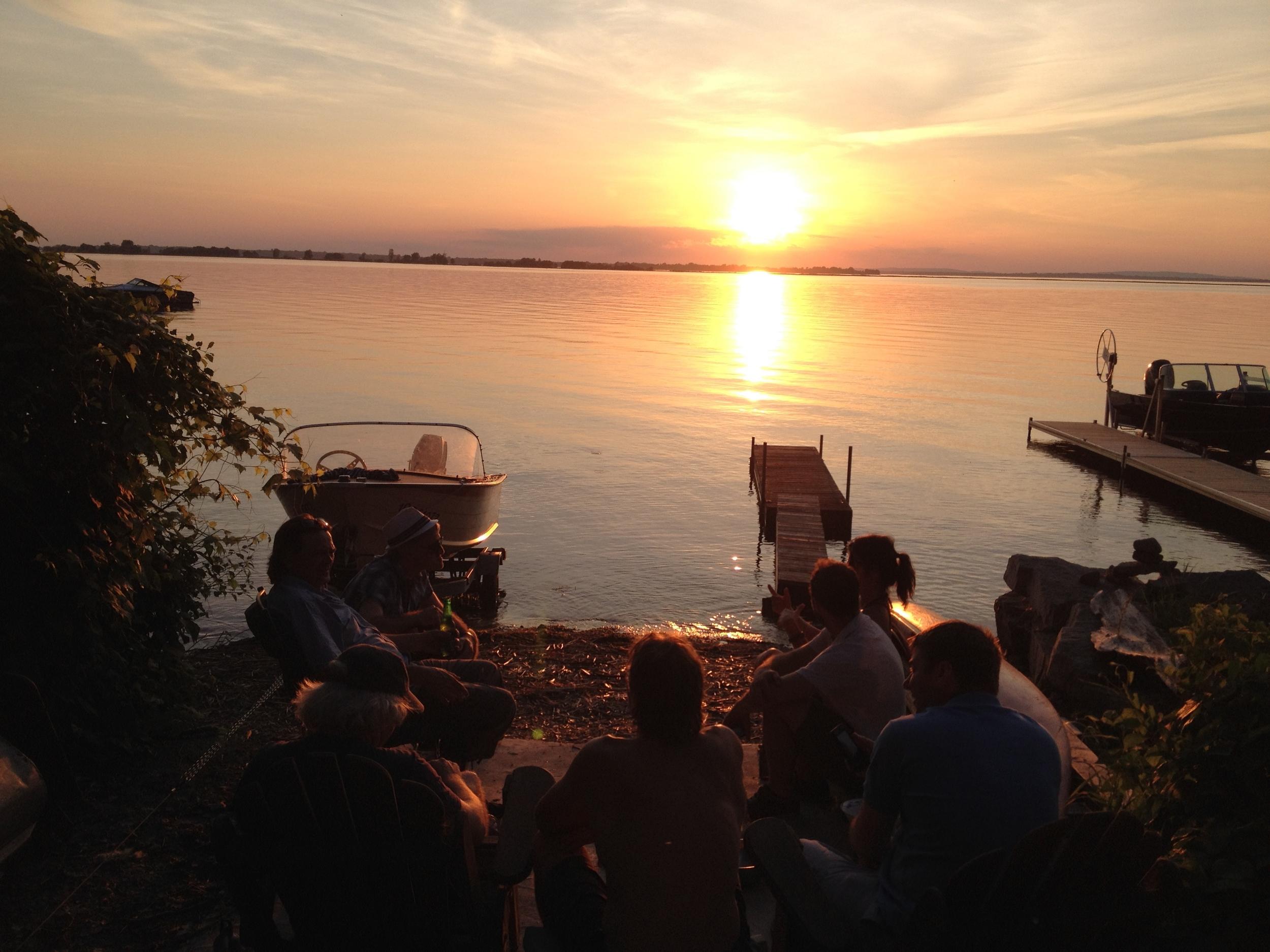 le Lac St-Louis, si près de la ville mais si loin en même temps...