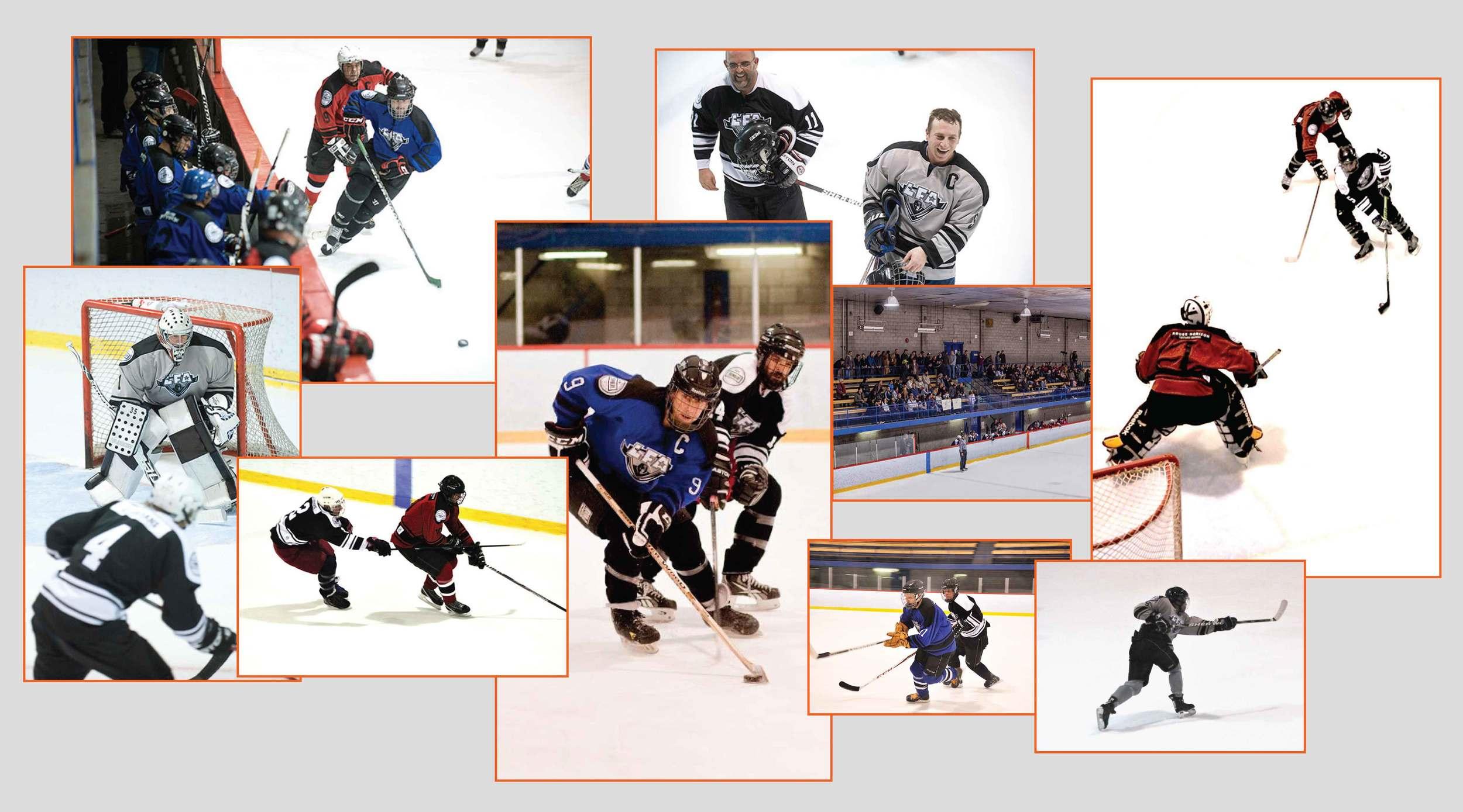 Montage photo d'images d'archive de la saison inaugurale 2013-2014