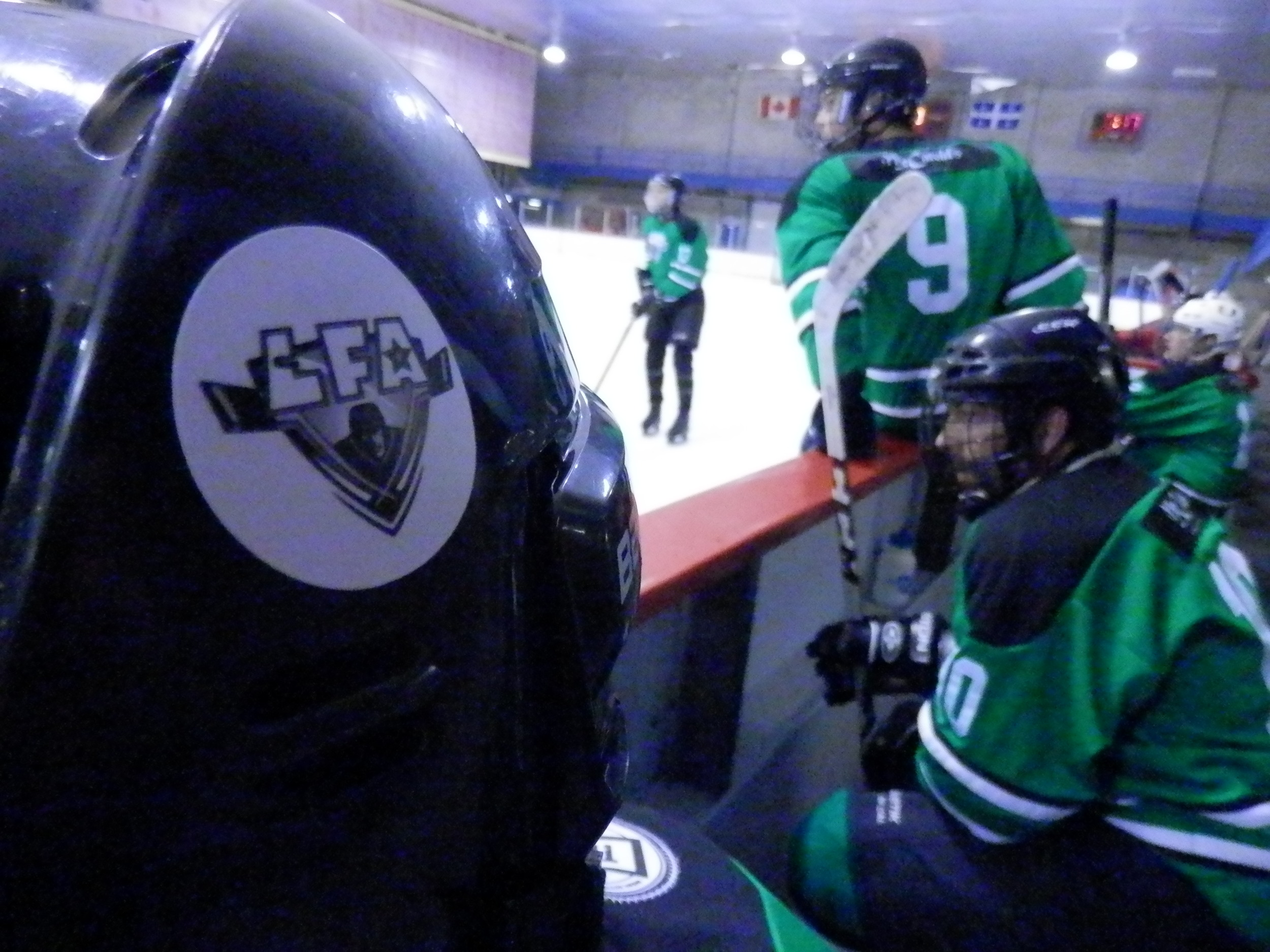 THE SHAMROCKS on a mission to catchthe first place tomahawks before the end of the regular season to put their names on the Tremblay trophy and get that bonus point that can be very important to make it to the grand final that will be held May 3rd. They are tied for second place with the Vipers..(photo JFD)
