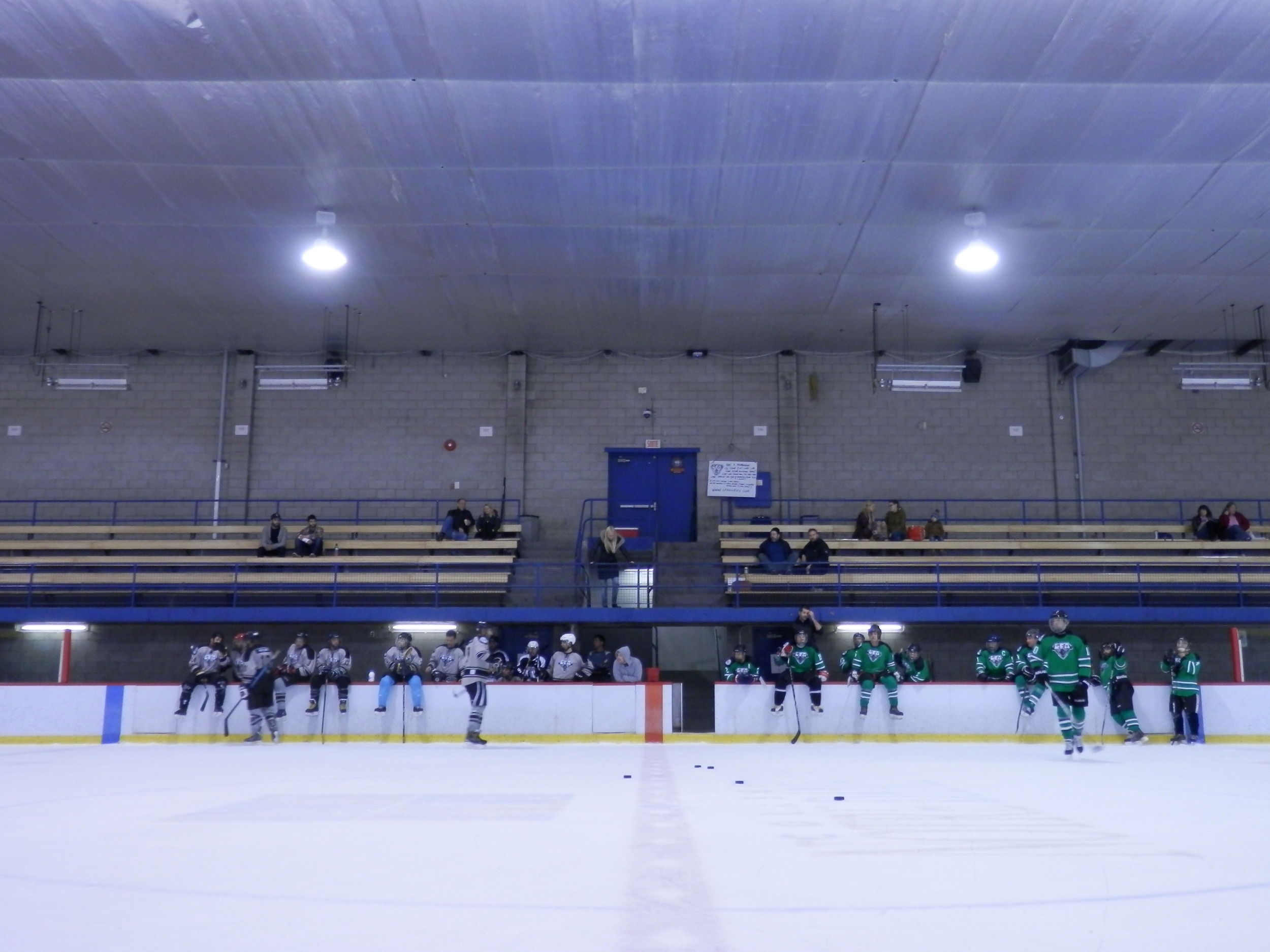 the czechers and shamrocks getting ready for the shoot out, a new  Instalment  in the lfa this season (photo jfd)