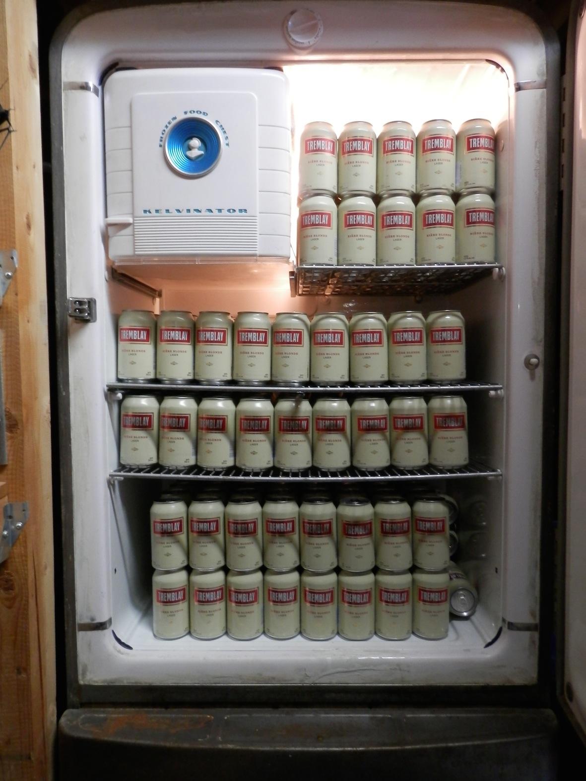 the fridge.....
