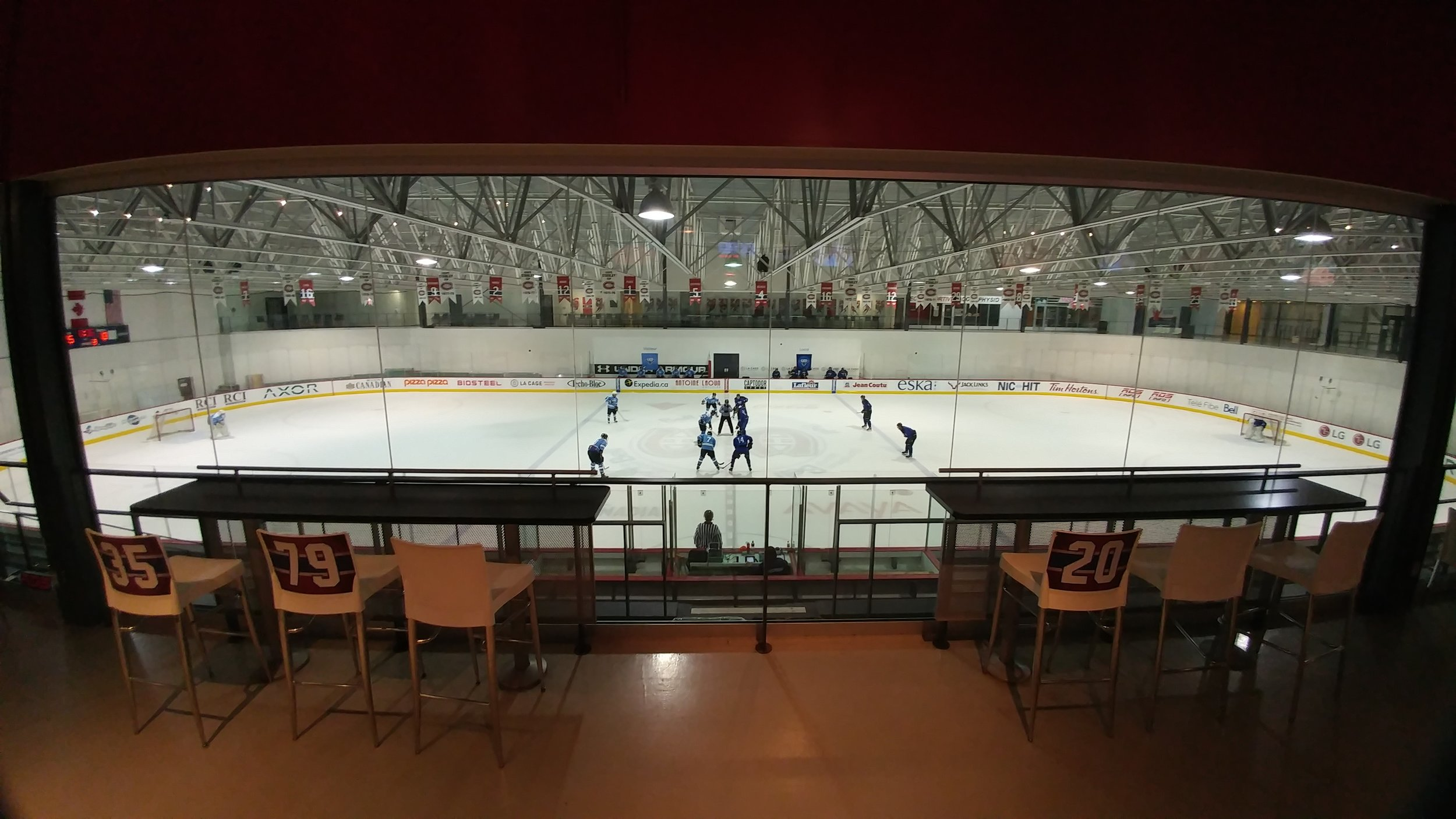 a look at our new INSTALLATIONS at the Bell sports somplex in BROSSARD (PHOTO CHRISTOPHE GRENON)
